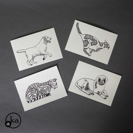 carte chien chat