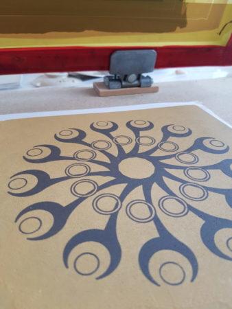 création personnelle serigraphie ceramique 1