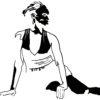 sérigraphie de danseuse